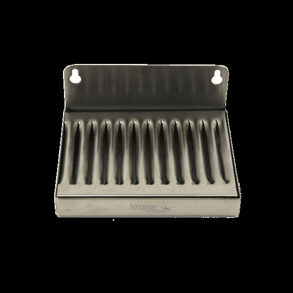 4 X 6 Stainless Steel Wall Mount Drip Tray Draft Beer Taps