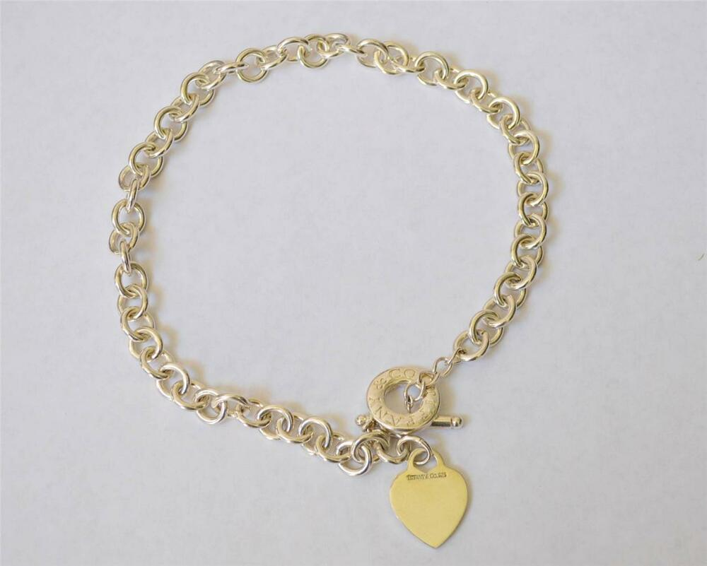 co link necklace sterling silver toggle 925