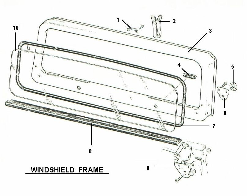 Jeep Replacement Windshield Glass And Glass Seal Kit