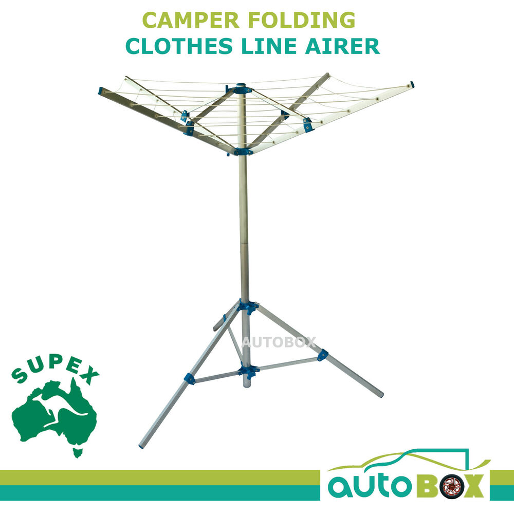 Camper Camping Folding Clothes Line Airer Lightweight