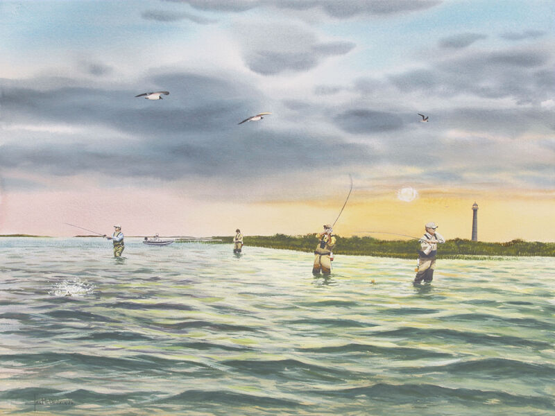 Light house cove by mcdonald giclee print port o 39 connor for Port o connor fishing