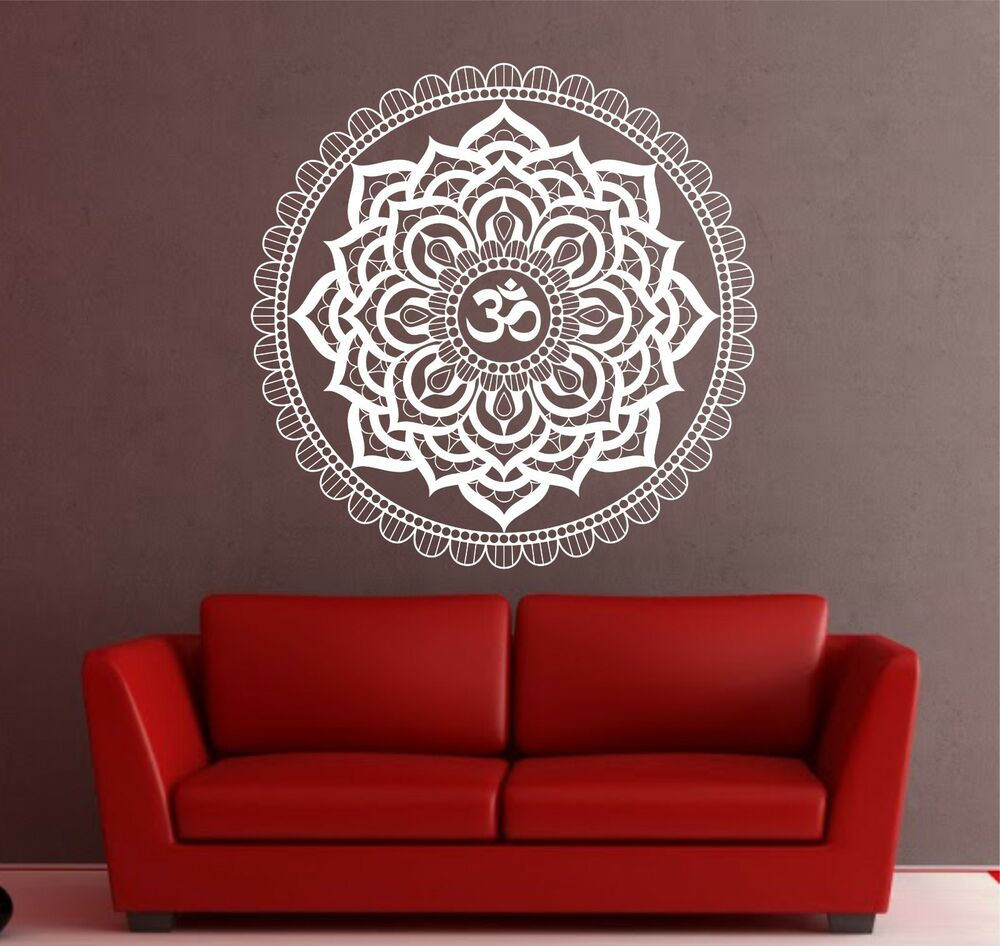 Mandala Wall Decal Om Indian Buddha Yoga Fatima Mandala