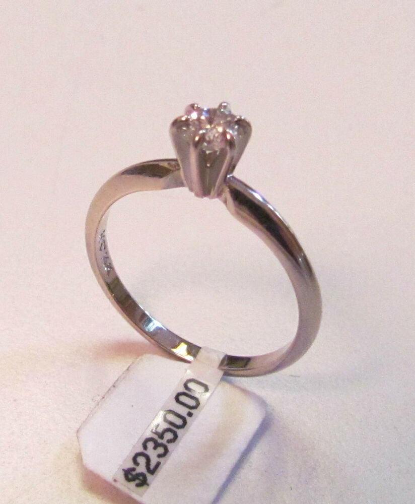 vintage 1 3 carat diamond solitare engagement ring 14 karat gold size 6 1 2 new ebay. Black Bedroom Furniture Sets. Home Design Ideas