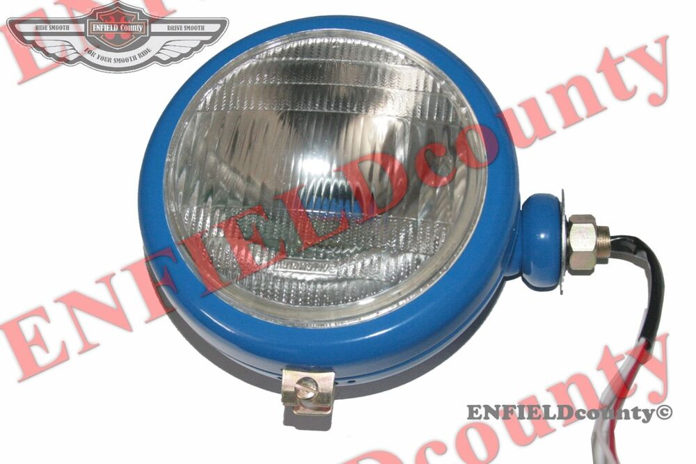 Tractor Headlight Bulb Sizes : Blue headlight head lamp assembly bulb ford tractor flat