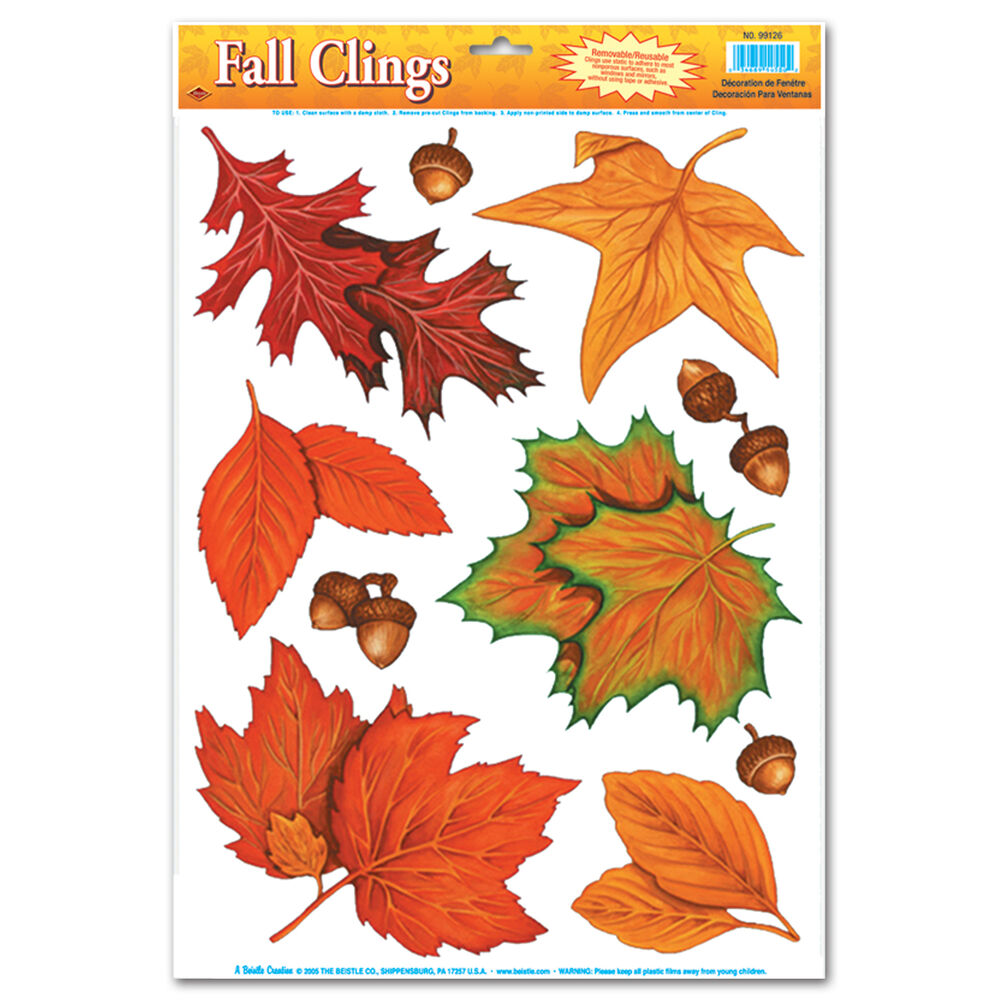 Autumn Fall Window Clings Halloween Harvest Festival Party