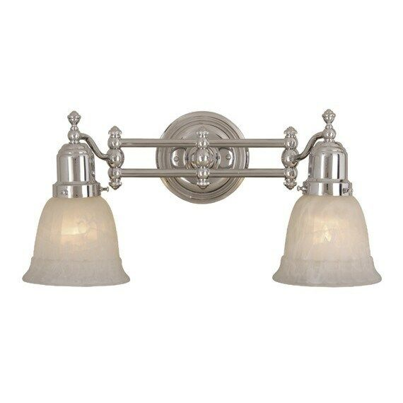 New 2 light bathroom vanity lighting fixture chrome for Bathroom 2 light fixtures