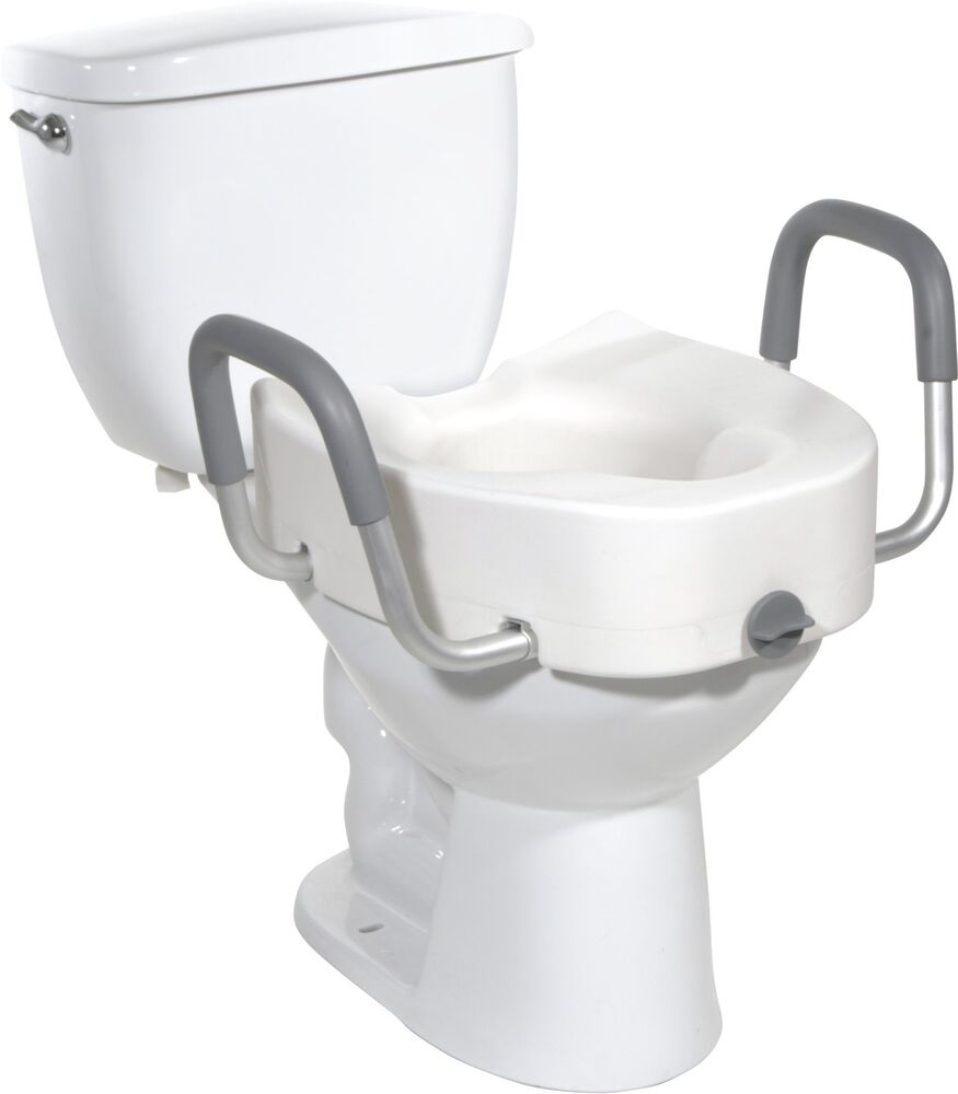Drive Medical Raised Toilet Seat 12013 Adjustable Round