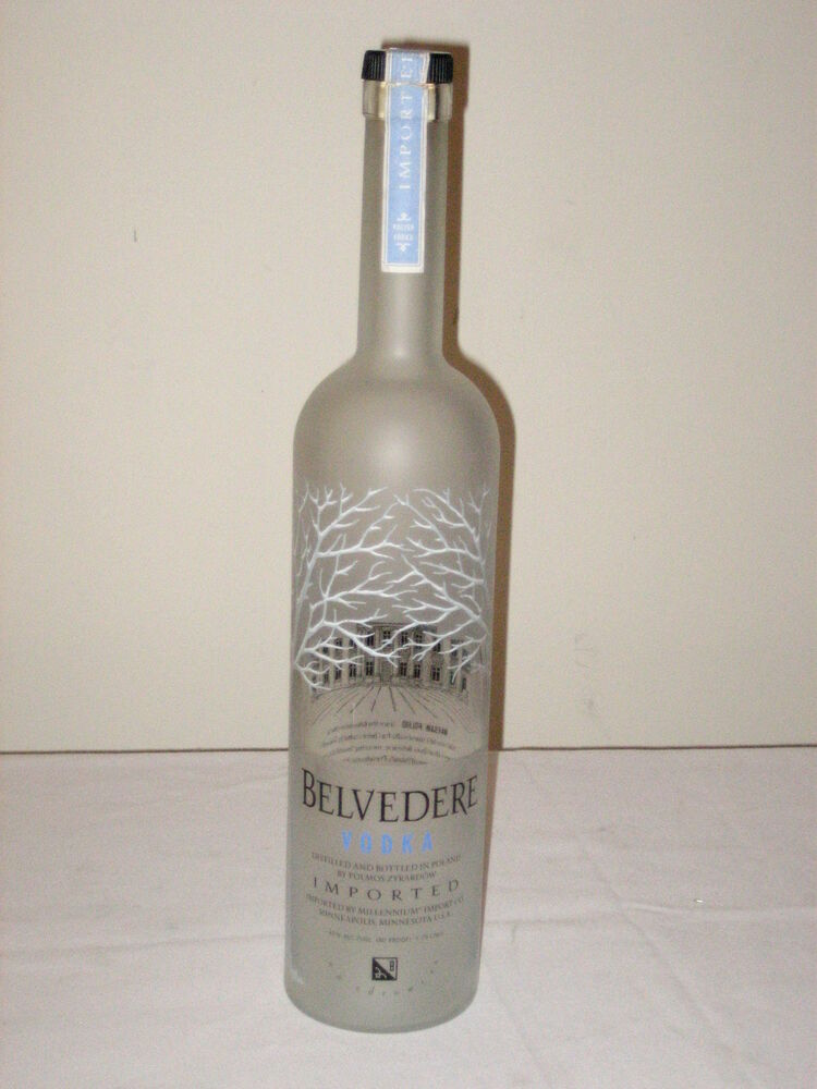 belvedere collectible imported vodka dummy display empty. Black Bedroom Furniture Sets. Home Design Ideas