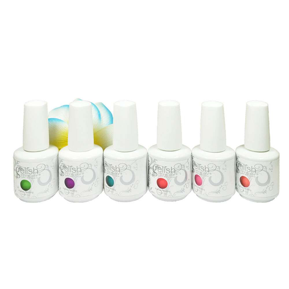 Gelish nail polish uv light video