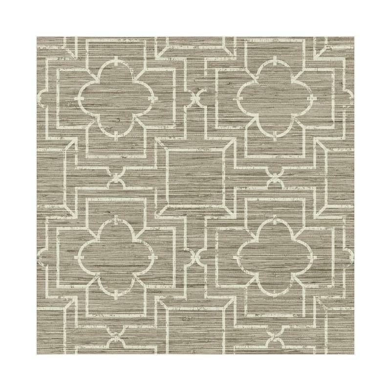 Ge3661 irongate trellis oriental faux grasscloth geometric for Self stick grasscloth wallpaper