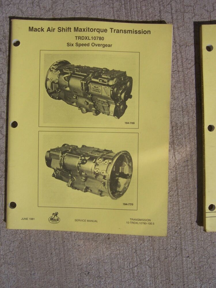 84 mack 5 Speed Maxitorque Transmission diagram