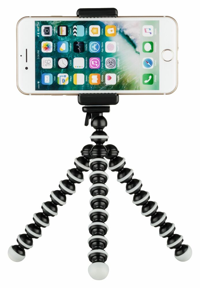 stativ f r apple iphone 5 5s 5c 6 st nder halterung tripod. Black Bedroom Furniture Sets. Home Design Ideas