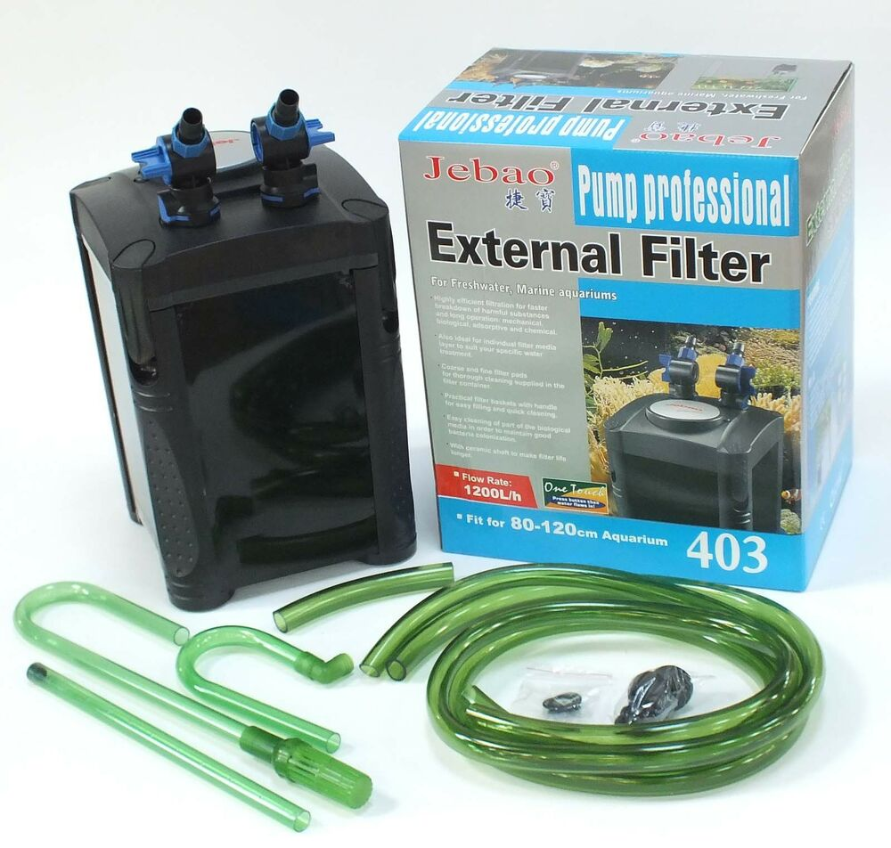 Jebao external aquarium fish tank filter system 502 503 for Fish tank filtration