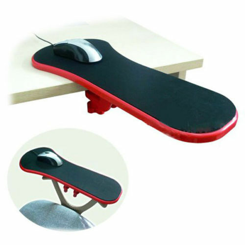 Red Computer Desk Chair Table Arm Wrist Rest Mouse Pad ...
