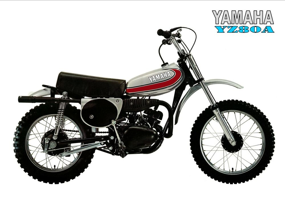 Yamaha poster yz80 yz80a 1974 vmx minibike early 70s for 1973 yamaha yz80