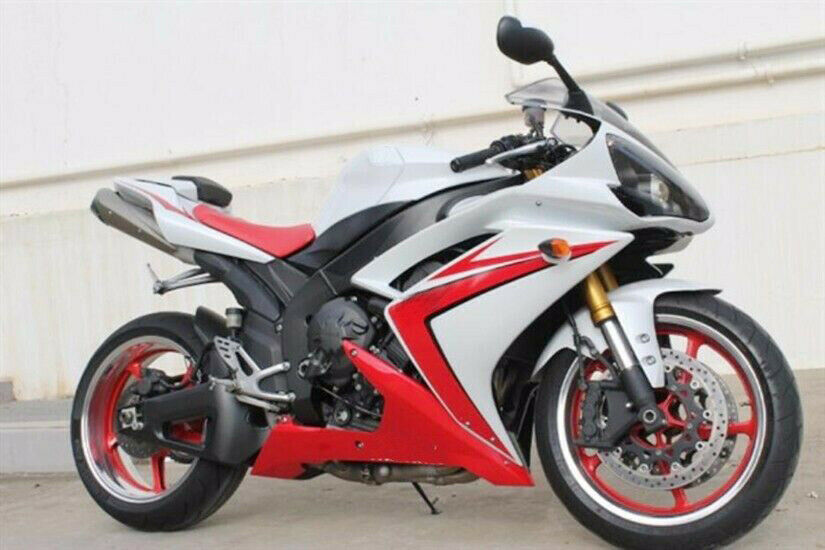 White with red fairing kit injection for 2007 2008 yamaha for Yamaha r1 deals