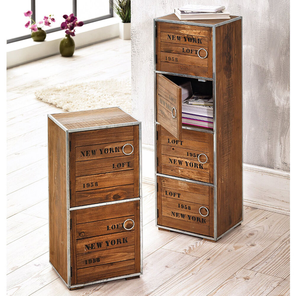 schrank new york holzschrank kommode schubladenschrank highboard sideboard neu ebay. Black Bedroom Furniture Sets. Home Design Ideas