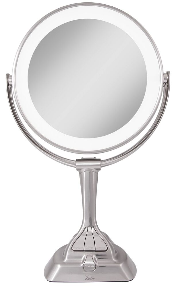 zadro 10x 1x magnification led variable lighted vanity makeup mirror. Black Bedroom Furniture Sets. Home Design Ideas