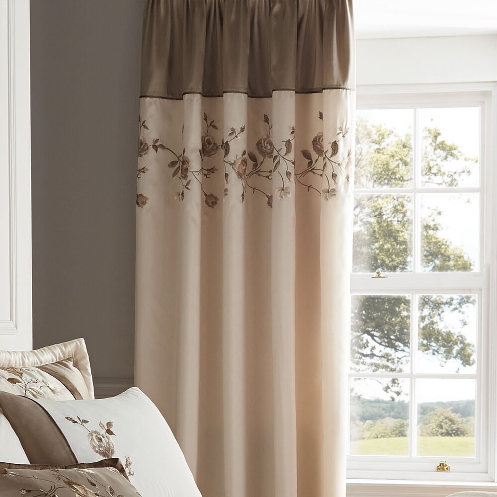 Dinosaur World 66 X 54 Lined Curtains Tie Backs: Catherine Lansfield Antique Rose Natural 66x72 Pencil
