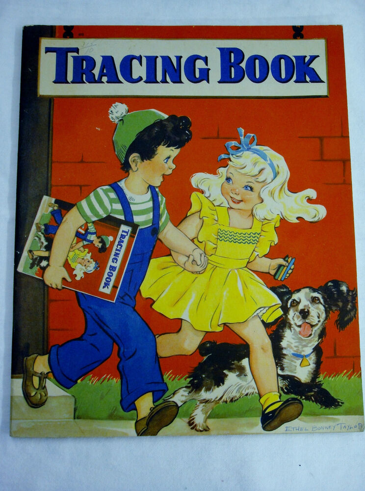 Vintage Tracing Coloring Book 1944 Whitman Illustrated By