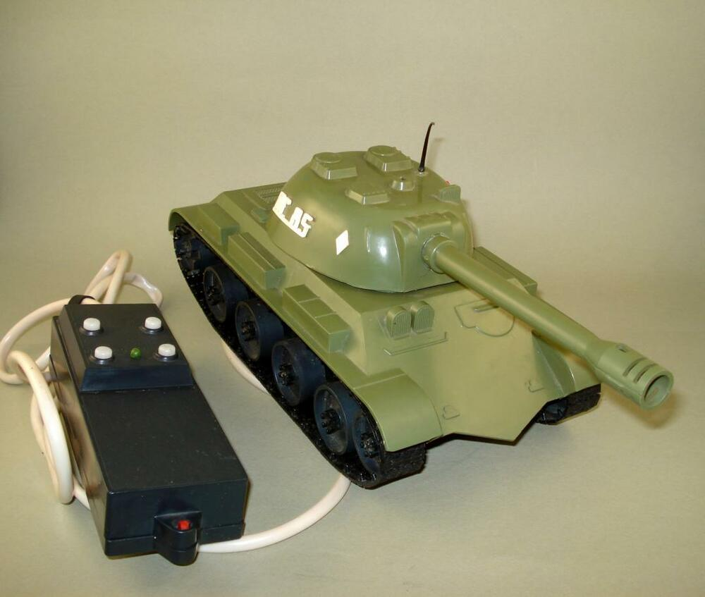 Details about VINTAGE USSR RUSSIAN BATTLE TANK TOY BATT. OP. REMOTE CONTROL  for RESTORATION