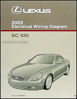 2002 lexus sc 430 wiring diagram manual original electrical schematic oem sc430 ebay. Black Bedroom Furniture Sets. Home Design Ideas