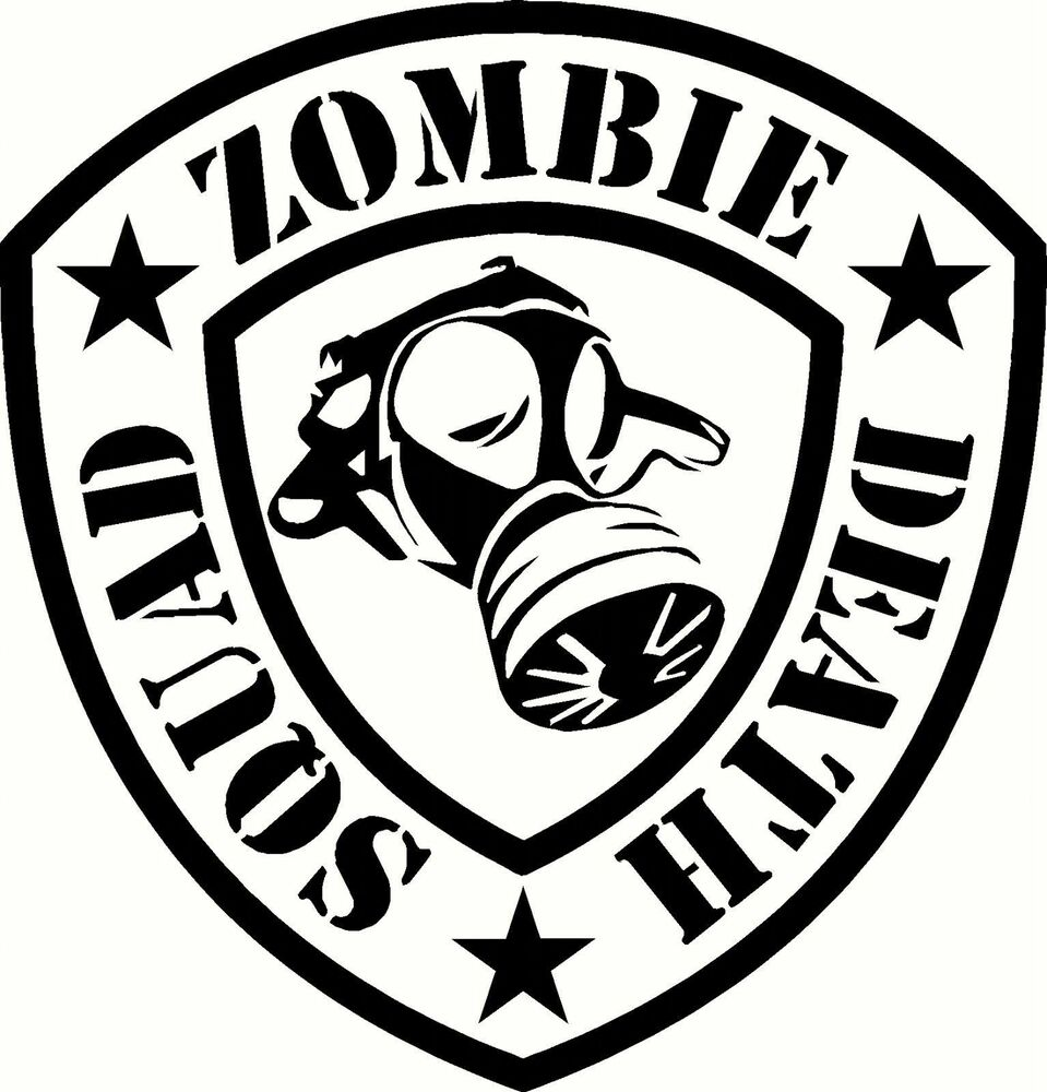 "Zombie Outbreak Response Team Decal 5.5""- vehicle or wall ..."