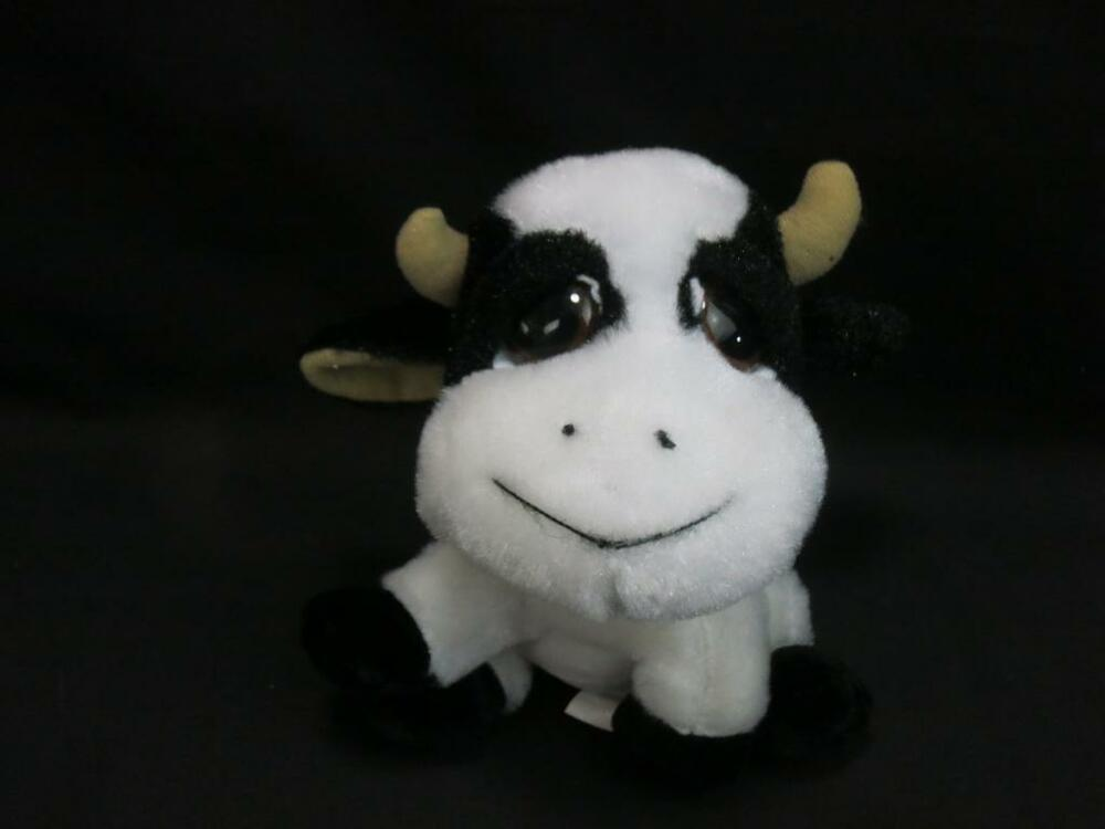 IDEAL TOYS DIRECT BIG DREAMY EYES BLACK WHITE BABY COW