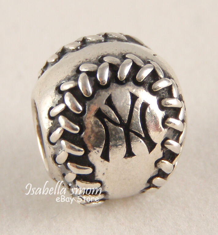 New York Yankees Authentic Pandora Sterling Silver Mlb