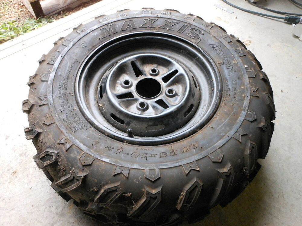 take off atv utv sxs tire wheel rim maxxis at25 at 25 10 12 m912y yamaha 12 7 5 ebay. Black Bedroom Furniture Sets. Home Design Ideas