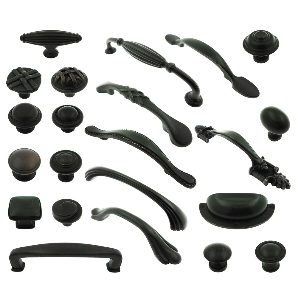 kitchen cabinet supplies Oil Rubbed Bronze Knob Pull Kitchen Cabinet Bin Cup Handles Hardware Vanity eBay