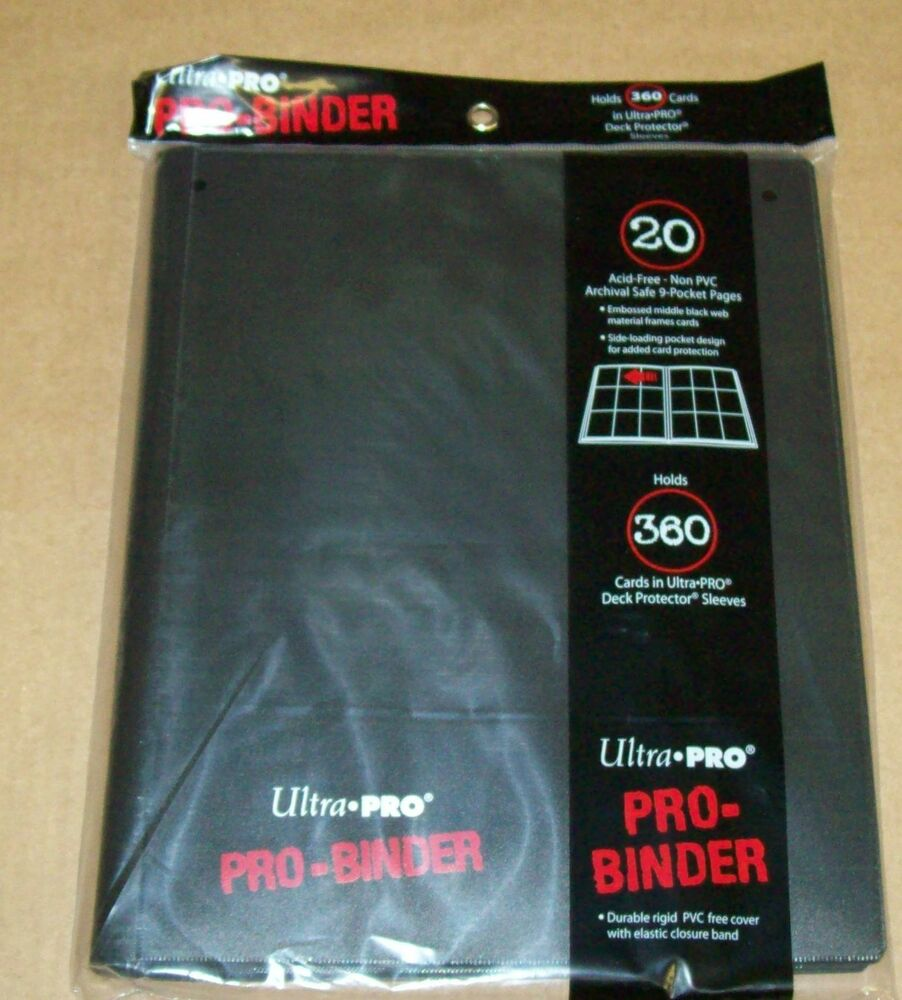 Lot Of 2 Ultra Pro 9 Pocket Black Pro-Binder 360 Magic