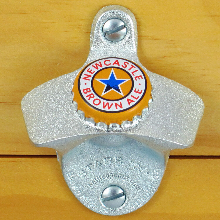 Newcastle Brown Ale Beer Bottle Cap Starr X Wall Mount