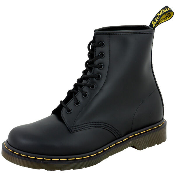 dr doc martens 1460 boots 8 loch leder stiefel black smooth schwarz. Black Bedroom Furniture Sets. Home Design Ideas