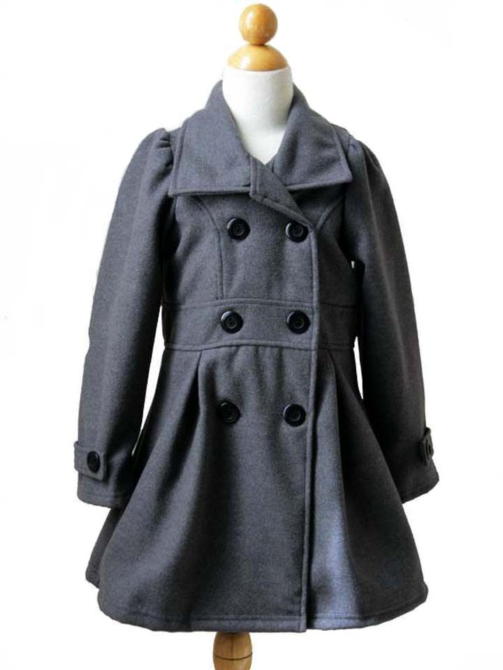 Girls Dress Coats Fashionable girls dress coats will keep her warm on winter's coldest days – and thanks to our discount prices will keep your bank account in good shape as well. Select stylish girls winter coats and always popular girls pea coats and make her day a cozy one.