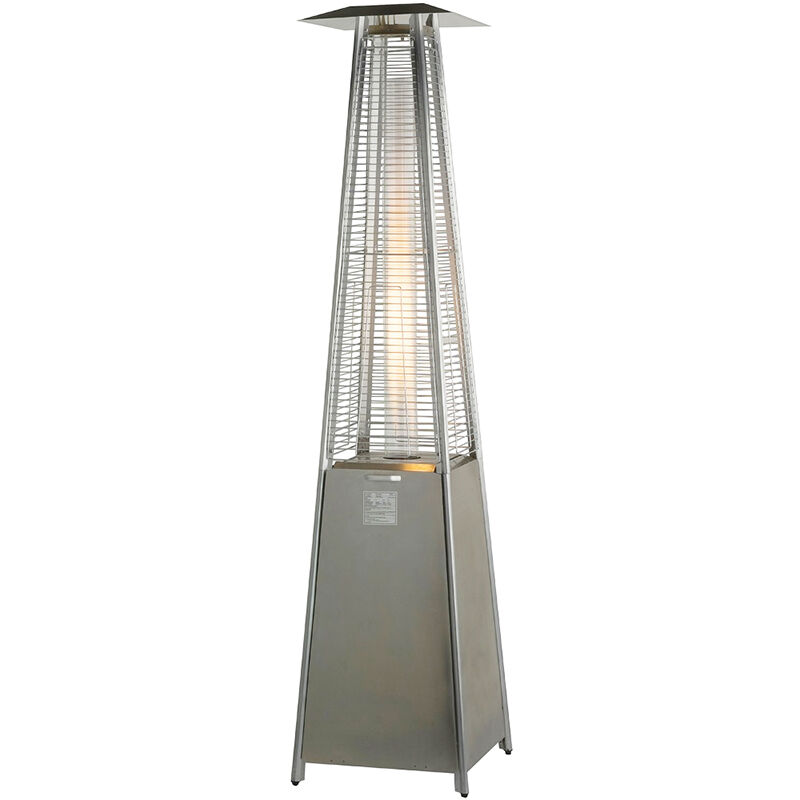 stainless steel pyramid heater patio garden outdoor