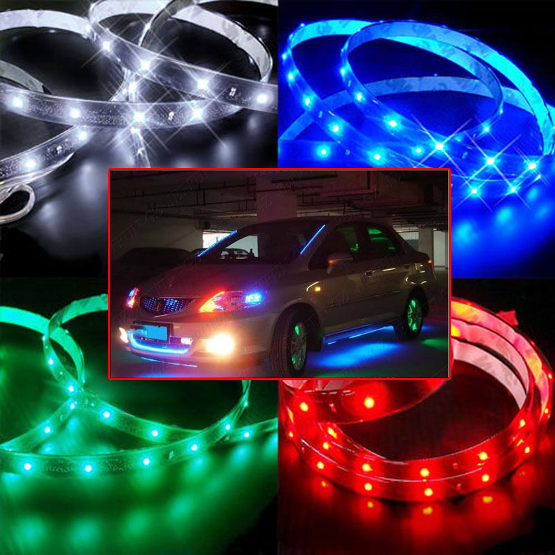 30cm 60cm 120cm 3528 smd led car motor neon strip light - Neon led 12v ...