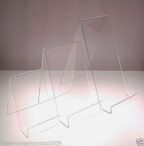 Acrylic Book Phone Plate Display Stand Clear Perspex Small