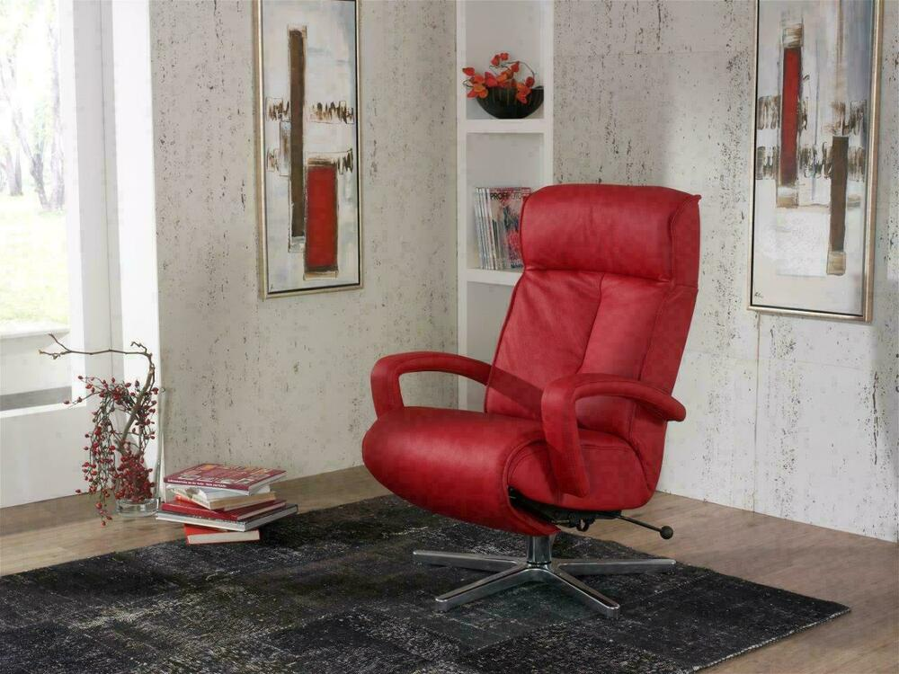 himolla sessel 7045 cosyform leder rot mod 32 k41 schmal. Black Bedroom Furniture Sets. Home Design Ideas