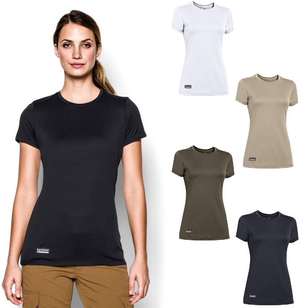 Under armour 1246790 women s ua tech tactical t shirt tee for Under armor tactical t shirt
