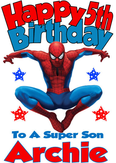 Personalised Birthday Card 'SPIDERMAN' ANY NAME,AGE,RELATION - NEW ...