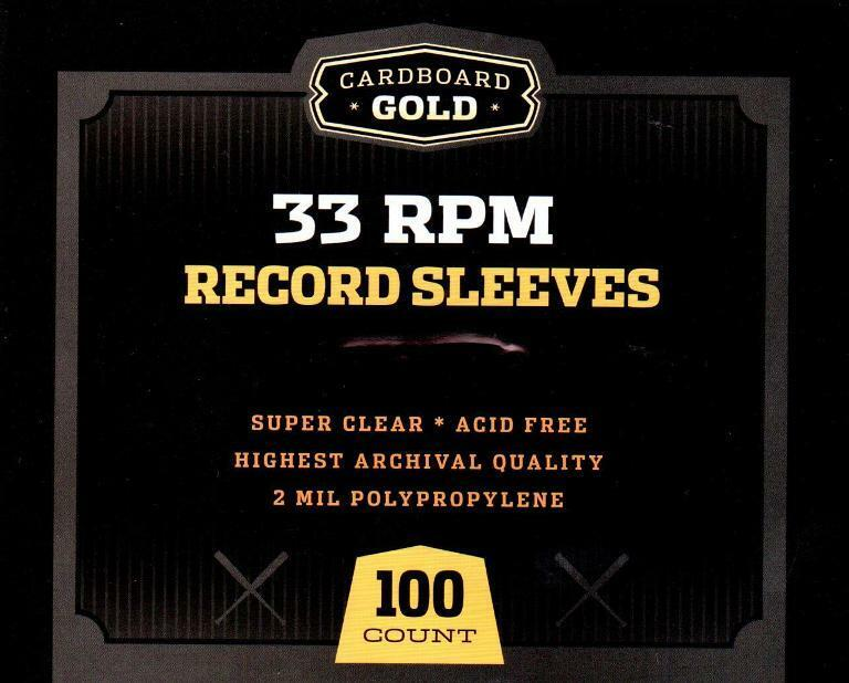 Pack 100 Cbg 33 Rpm Record Album Poly Sleeves 12 75 X 13