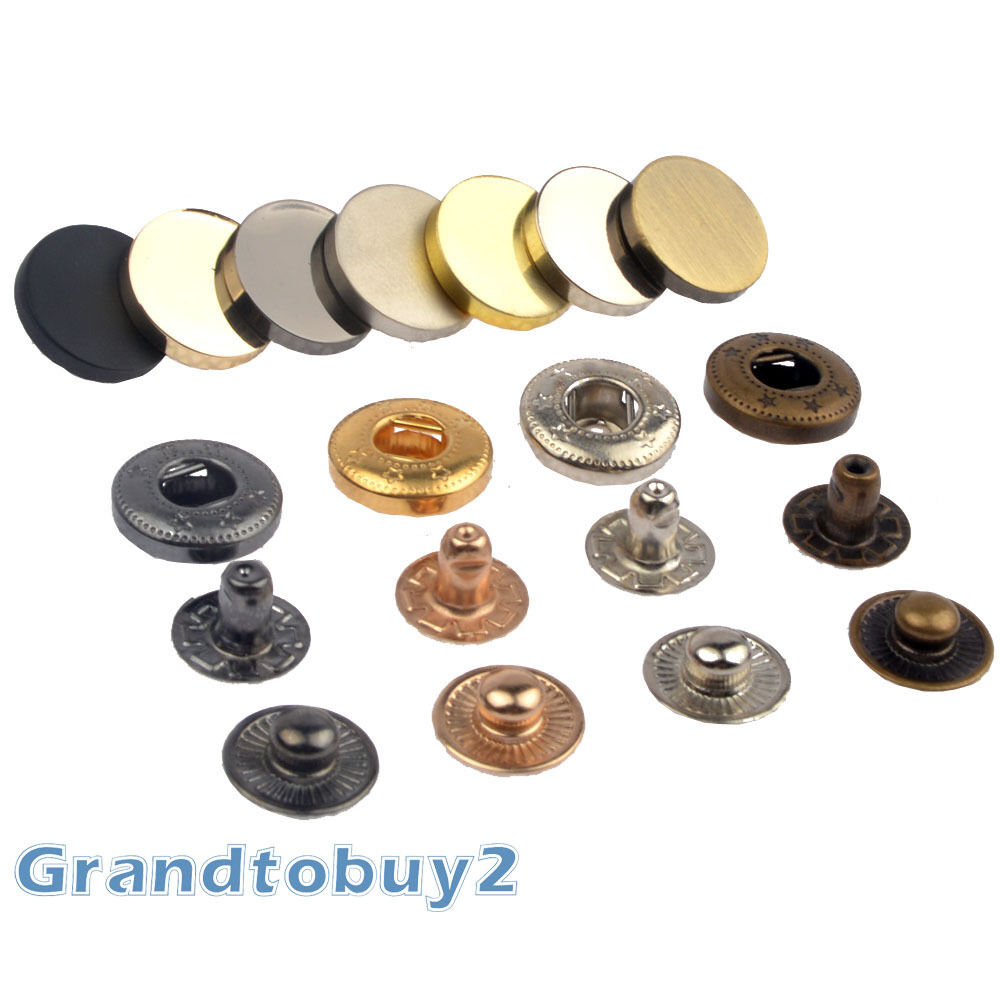 15/30 Flat Popper Snap Fasteners Press Stud Sewing Leather ...