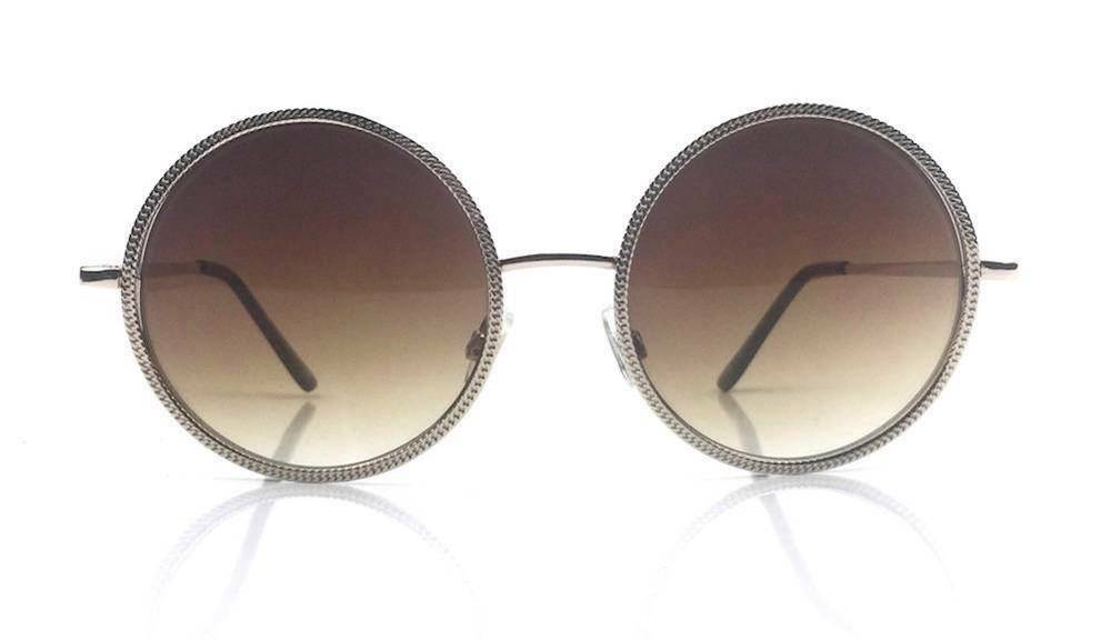 f0a8ff6542 Oversize Vintage Inspired Metal Round Circle Sunglasses Gold Gradient