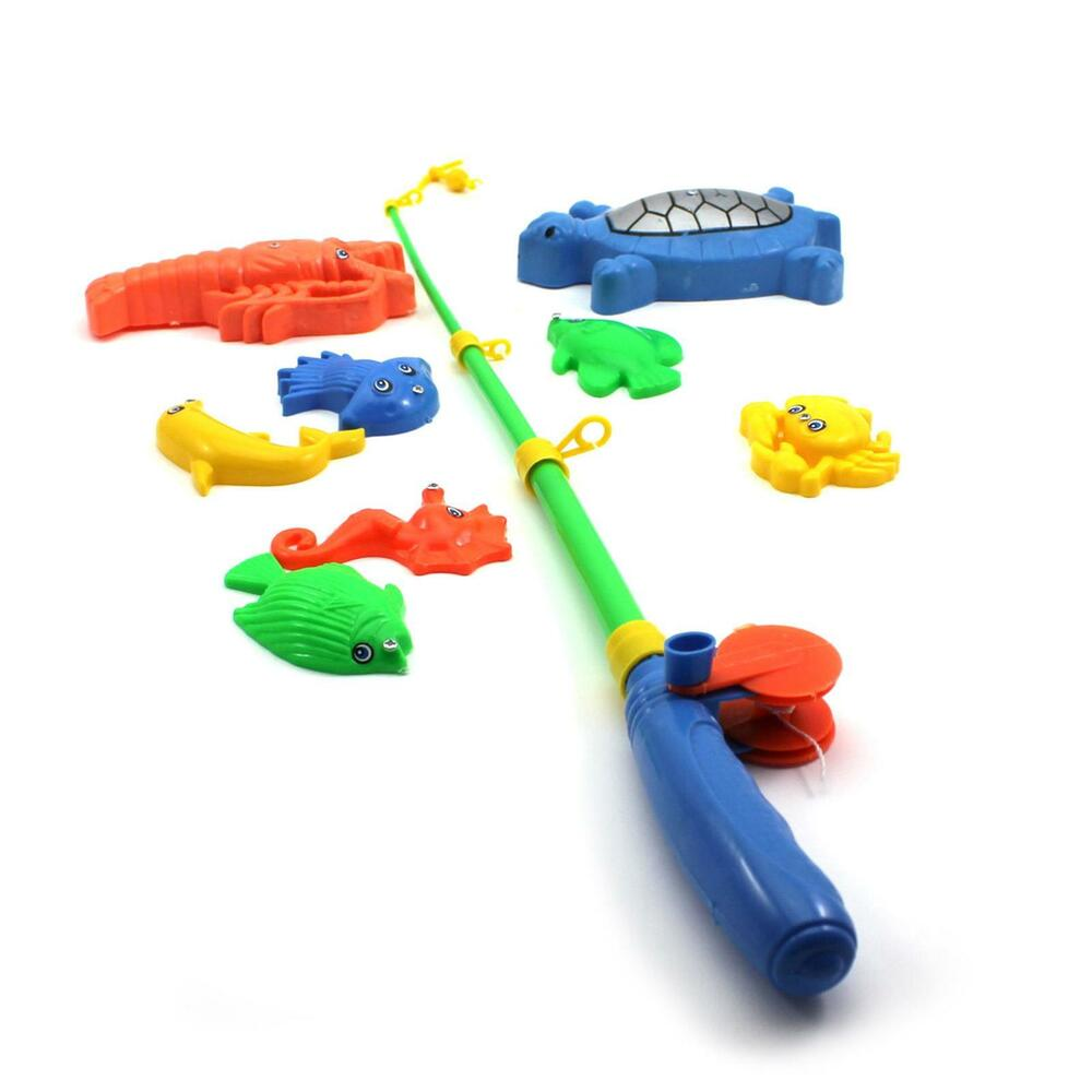 educational fish pond game magnetic fishing pole rod
