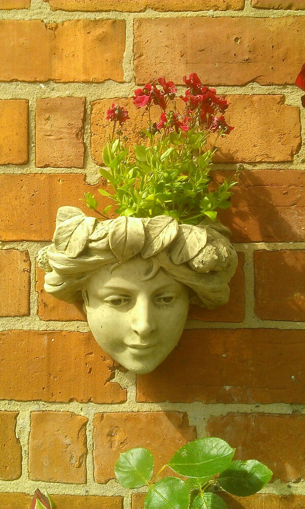 Stone garden small lady face wall planter trough - Watch over the garden wall online free ...