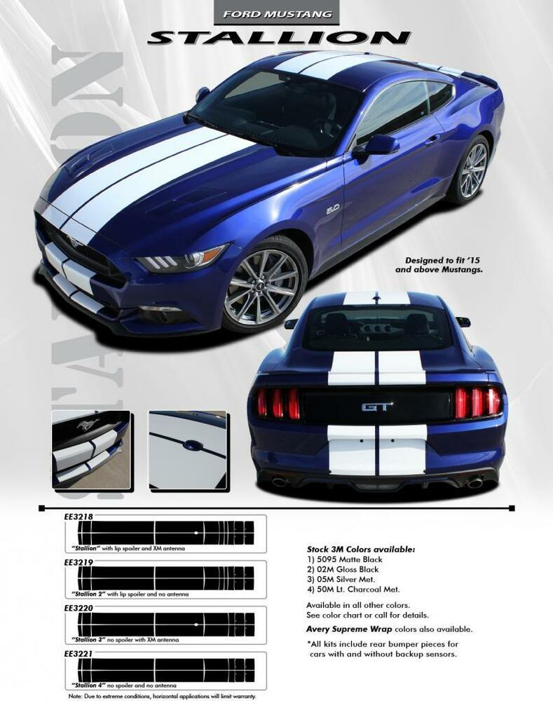 For ford mustang graphics decals stripes emblems trim kit ee3218 for ford mustang graphics decals stripes emblems trim kit ee3218 model 2015 2017 ebay geenschuldenfo Image collections