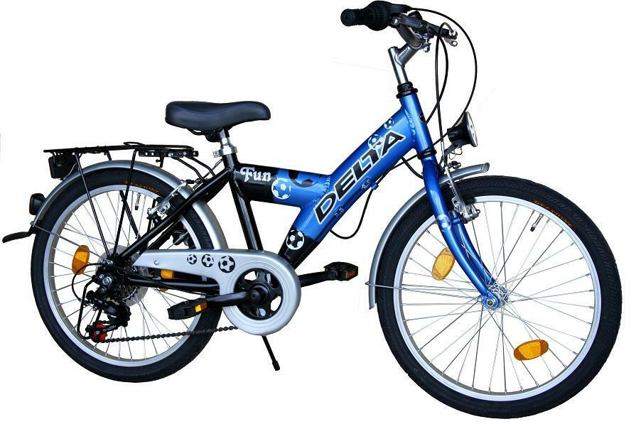 20 zoll delta kinderfahrrad 6 gang shimano fahrrad stvzo blau ebay. Black Bedroom Furniture Sets. Home Design Ideas