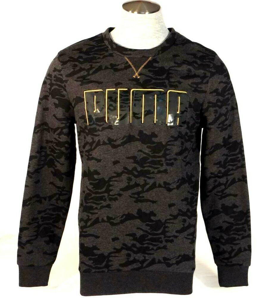 Details about Puma Signature Black Camouflage Pullover Sweatshirt Mens NWT 6196cb9dd