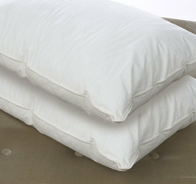 Luxury 100 Pure Siberian Goose Down Pillow Pair Ebay